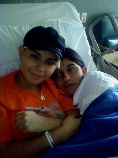 My sis and me after my surgery